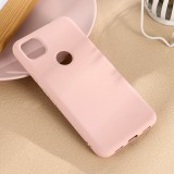 For Google Pixel 4a Pure Color Liquid Silicone Shockproof Full Coverage Case (Pink)
