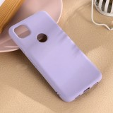 For Google Pixel 4a Pure Color Liquid Silicone Shockproof Full Coverage Case (Purple)
