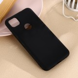 For Google Pixel 4a Pure Color Liquid Silicone Shockproof Full Coverage Case (Black)