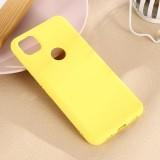 For Google Pixel 4a Pure Color Liquid Silicone Shockproof Full Coverage Case (Yellow)