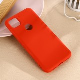 For Google Pixel 4a Pure Color Liquid Silicone Shockproof Full Coverage Case (Red)