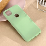 For Google Pixel 4a Pure Color Liquid Silicone Shockproof Full Coverage Case (Green)