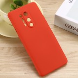 For OnePlus 8 Pro Pure Color Liquid Silicone Shockproof Full Coverage Case (Red)