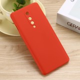 For OnePlus 8 Pure Color Liquid Silicone Shockproof Full Coverage Case (Red)