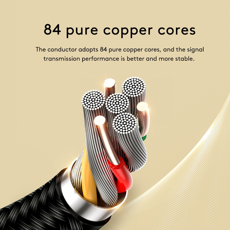 JOYROOM SY-10A1 AUX Audio Cable 3.5mm Male to Male Plug Jack Stereo Audio Wire AUX Car Stereo Audio Cable, Cable Length: 1.0m (Black)