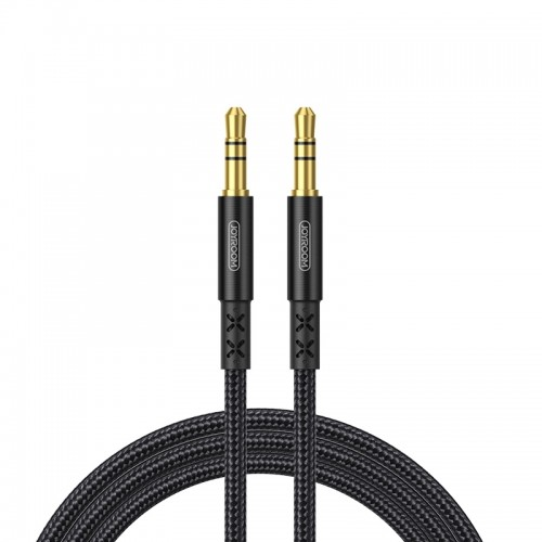 JOYROOM SY-15A1 AUX Audio Cable 3.5mm Male to Male Plug Jack Stereo Audio Wire AUX Car Stereo Audio Cable, Cable Length: 1.5m (Black)