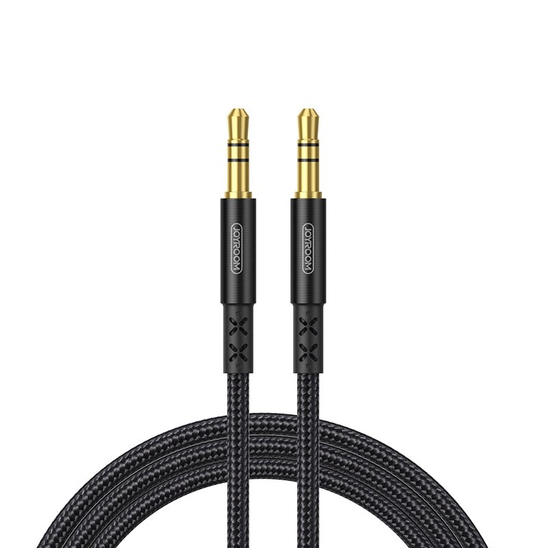 JOYROOM SY-20A1 AUX Audio Cable 3.5mm Male to Male Plug Jack Stereo Audio Wire AUX Car Stereo Audio Cable, Cable Length: 2.0m (Black)