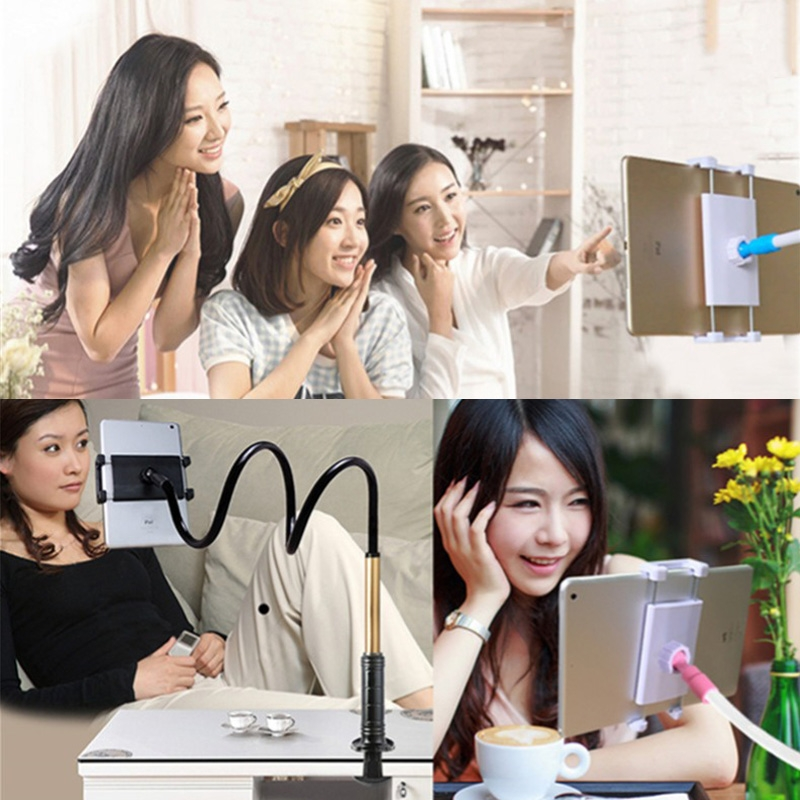 Aluminum-magnesium Alloy Free-Rotating Lazy Bracket Universal Mobile Phones Tablet PC Stand, Suitable for 4-12.9 inch Mobile Phones / Tablet PC, Length: 1.2m (Black Gold)