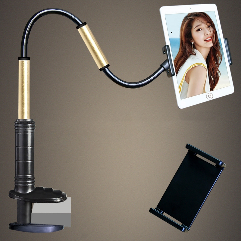 Aluminum-magnesium Alloy Free-Rotating Lazy Bracket Universal Mobile Phones Tablet PC Stand, Suitable for 4-12.9 inch Mobile Phones / Tablet PC, Length: 1.3m (Black Gold)