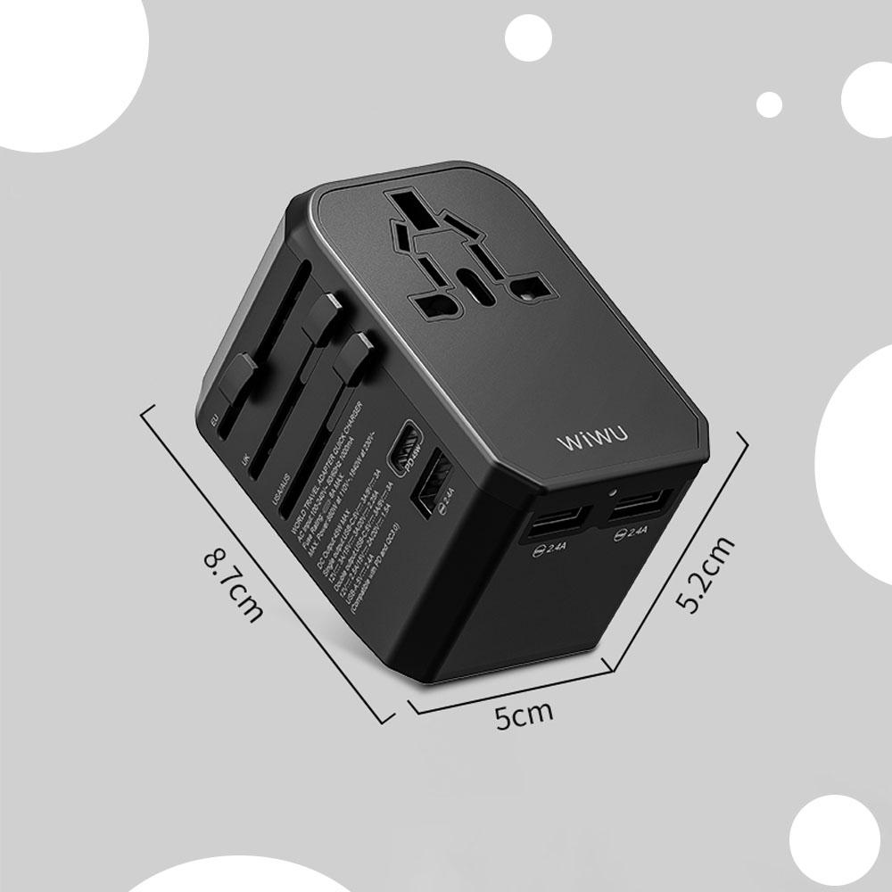 WIWU UA304 45W 国际多功能充电器 (https://www.wiwu.net.cn/) 国际充电器 第2张