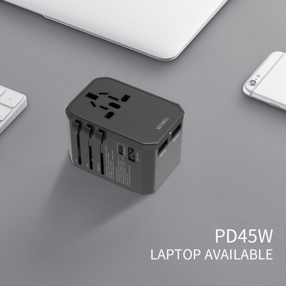 WIWU UA304 45W 国际多功能充电器 (https://www.wiwu.net.cn/) 国际充电器 第3张