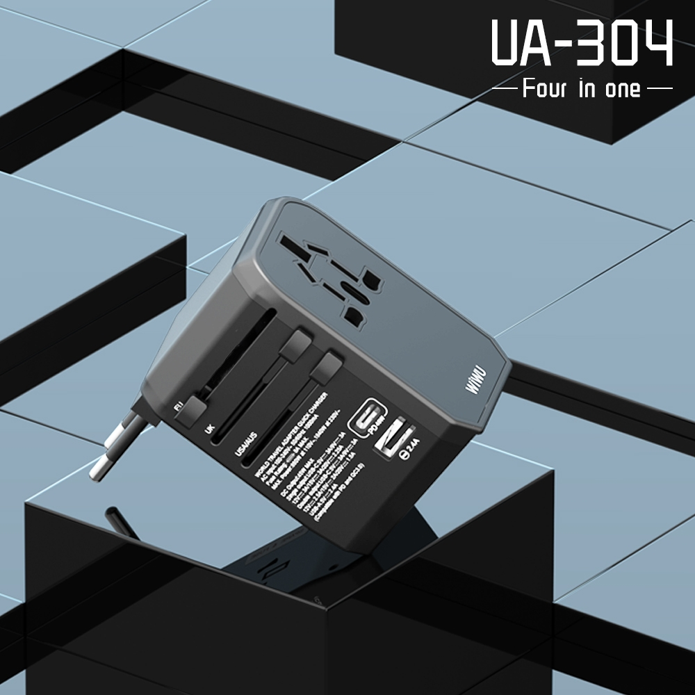 WIWU UA304 45W 国际多功能充电器 (https://www.wiwu.net.cn/) 国际充电器 第4张
