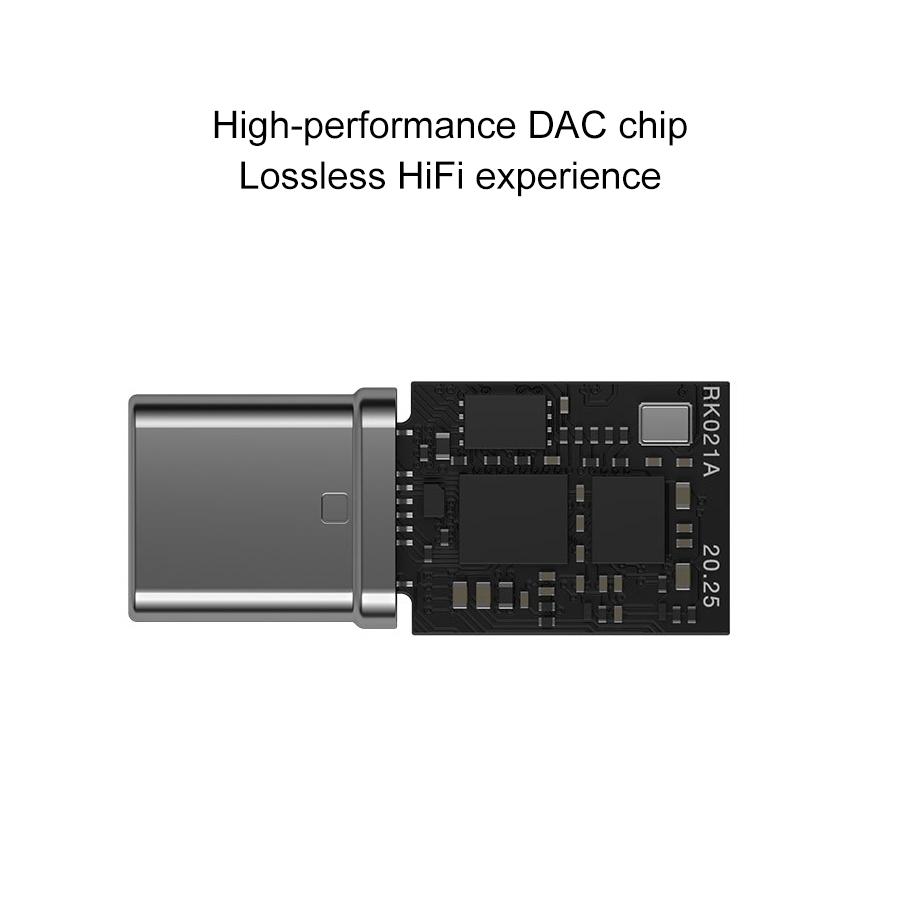 MEIZU 3.5mm Female to USB-C / Type-C Male HIFI Decoding Headphone Amplifier (Black)