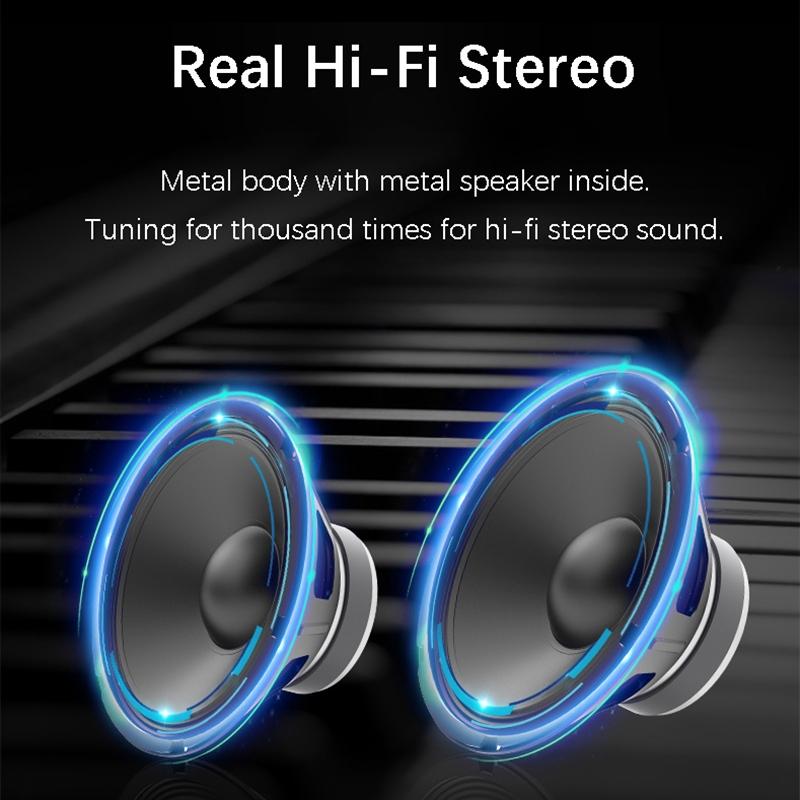 EWA A103 Portable Bluetooth Speaker Wireless Heavy Bass Bomm Box Subwoofer Phone Call Surround Sound Bluetooth Shower Speaker (Black)