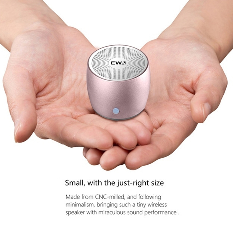 EWA A103 Portable Bluetooth Speaker Wireless Heavy Bass Bomm Box Subwoofer Phone Call Surround Sound Bluetooth Shower Speaker (Blue)
