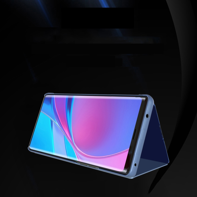 For Xiaomi Redmi Note9 Pro/Note9 Pro Max/Note 9S/Note9 Plated Mirror Horizontal Flip Leather Case with Holder (Silver)