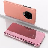 For Xiaomi Redmi Note9 Pro/Note9 Pro Max/Note 9S/Note9 Plated Mirror Horizontal Flip Leather Case with Holder (Rose Gold)