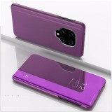 For Xiaomi Redmi Note9 Pro/Note9 Pro Max/Note 9S/Note9 Plated Mirror Horizontal Flip Leather Case with Holder (Purple)