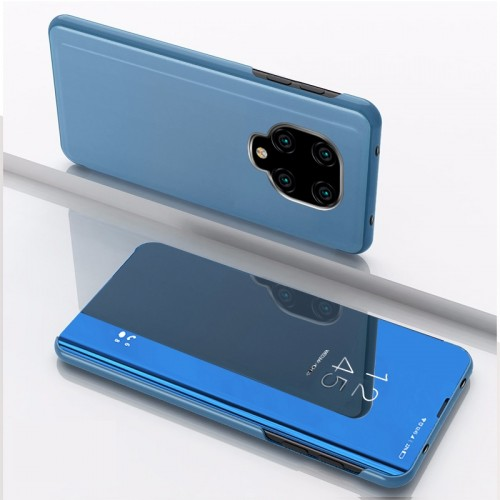 For Xiaomi Redmi Note9 Pro/Note9 Pro Max/Note 9S/Note9 Plated Mirror Horizontal Flip Leather Case with Holder (Blue)