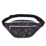Fashion Casual Laser Multi-Layer PU Mobile Phone Storage Waist Bag Crossbody Bag Chest Bag