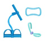 3Pcs Pedal Tension Rope Yoga Ring Leg Thigh Trainer Indoor Exercise Tools Fitness Kit