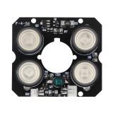3pcs IR LED Board for CCTV Camera 4*Array IR LED Spot Infrared Light Board Night Vision 850nm DC12V