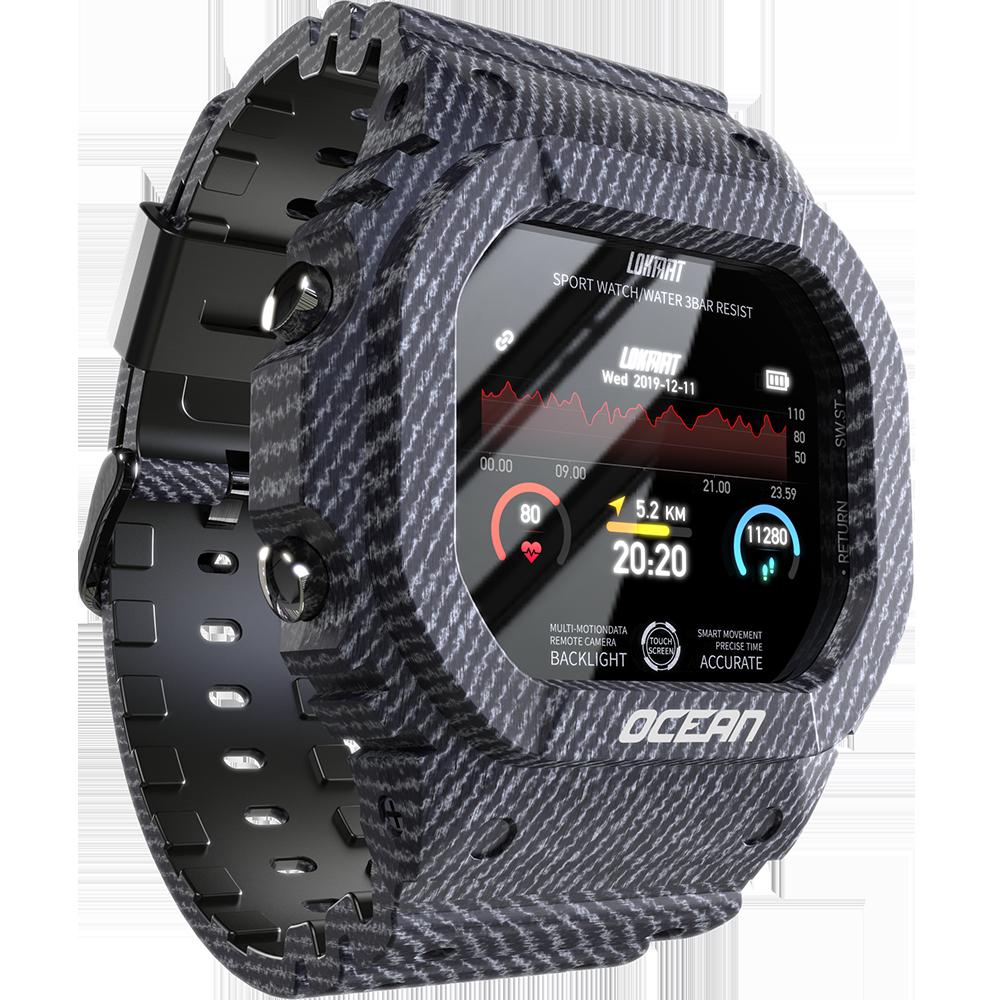 LOKMAT OCEAN IP68 Waterproof Wristband Heart Rate Monitor Multi-sport Mode Camera Remote Control Smart Watch