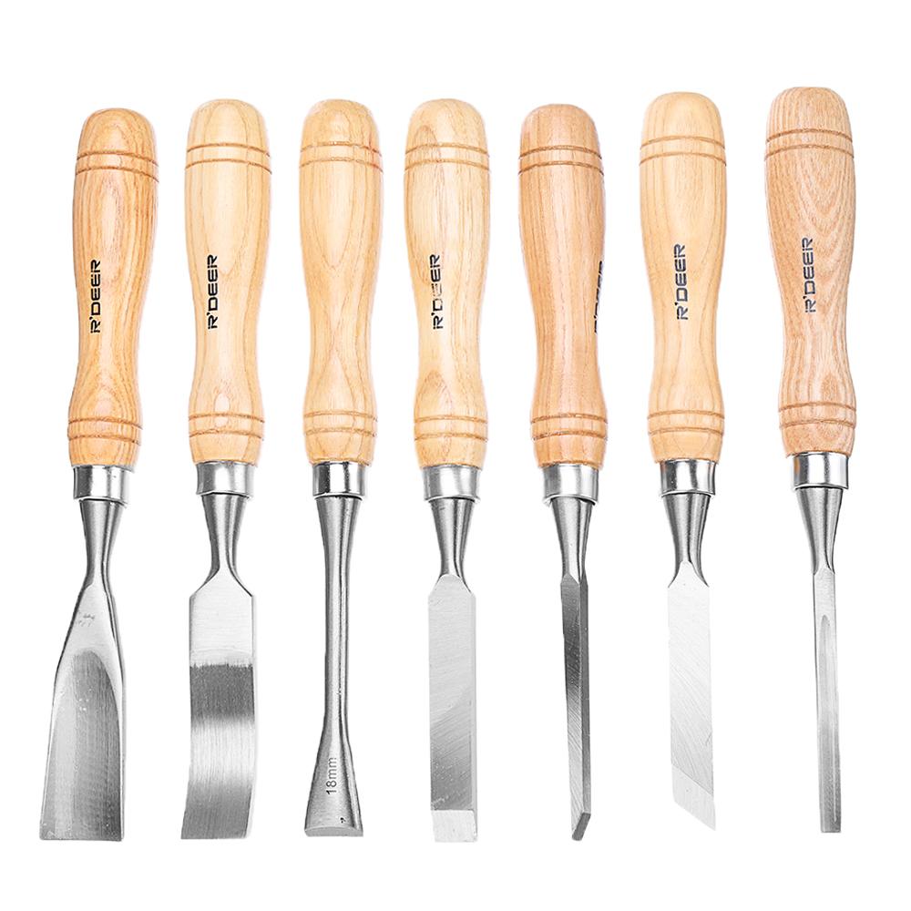 12PCS Wood Turning Carving Tool Set Chrome Vanadium Steel Wood Carving Chisels Blade Woodworking Tool