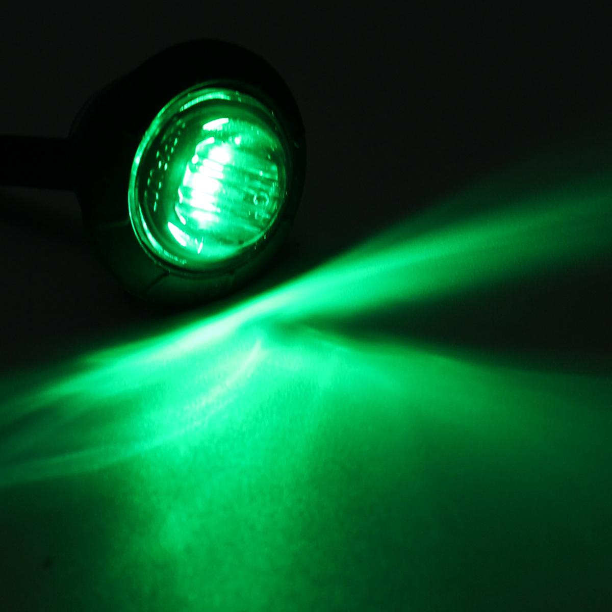 12V-24V LED Clearance Side Marker Indicators Lights Lamp Lorry Truck Boat Trailer Bus