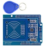 3pcs NFC Shield RFID RC522 Module RF IC Card Sensor + S50 RFID Smart Card for UNO/Mega2560 OPEN-SMART for Arduino