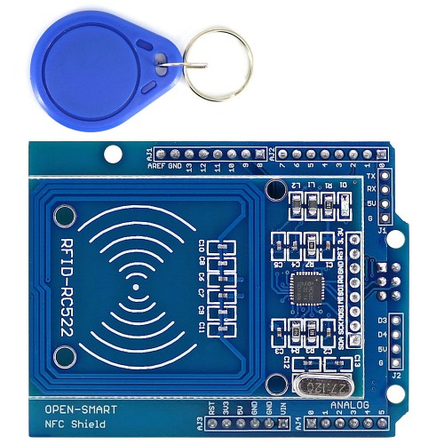 3pcs NFC Shield RFID RC522 Module RF IC Card Sensor + S50 RFID Smart Card for UNO/Mega2560 OPEN-SMART for Arduino
