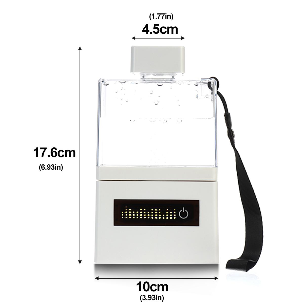 300ml Hydrogen Rich Water Ionizer Alkaline Bottle Cup Generator LED Display Gift