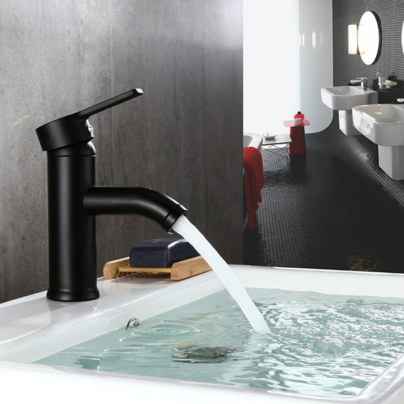 Stainless Steel Basin Faucet Single Handle Bathroom Face Basin Hot Cold Water Mixer Sink Tap With Hose Bathroom Accessories