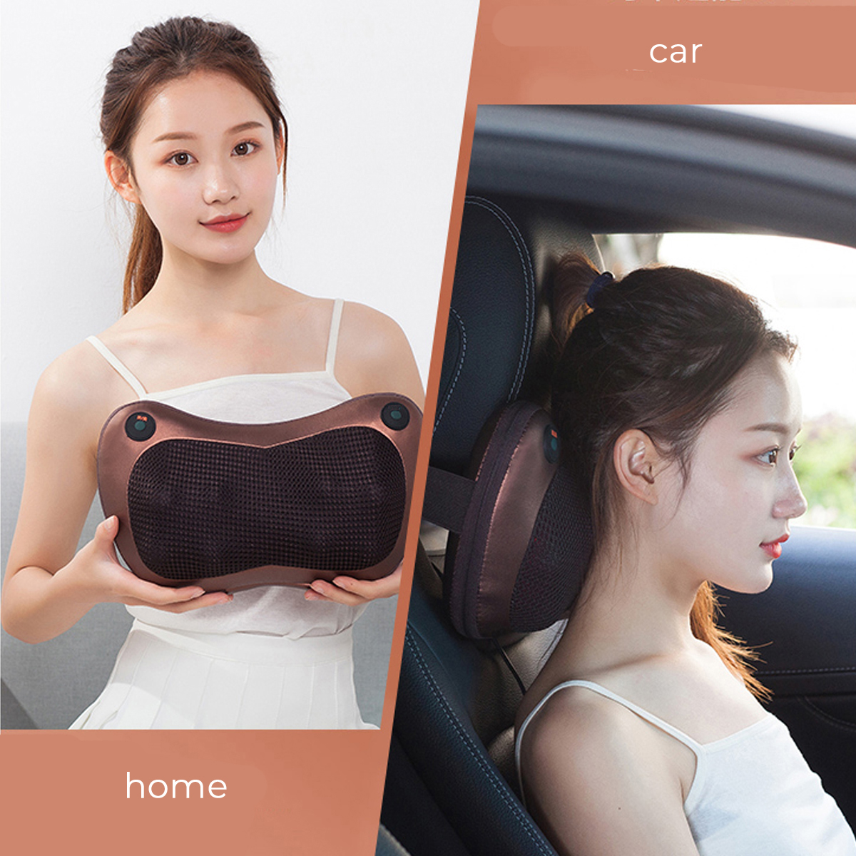 16 Heads Electric Massager Pillow Lumbar Body Neck Back Shiatsu Kneading Cushion