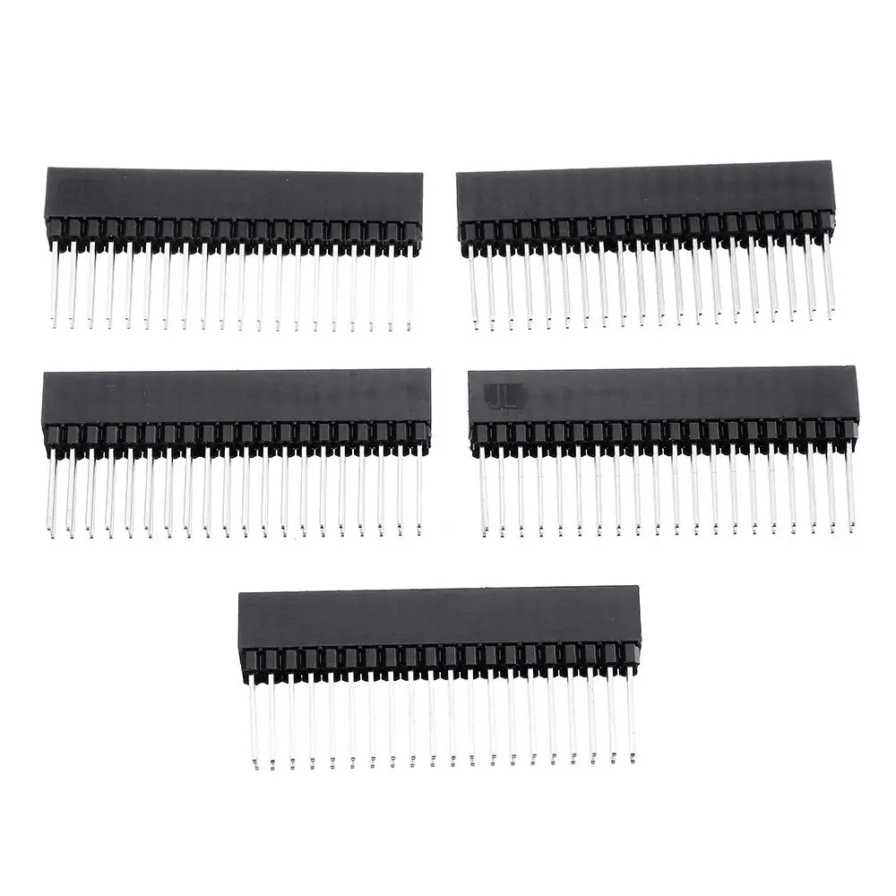 15pcs 2x20 PIN Double Row Straight Female Pin Header 2.54MM Pitch Pin Long 12MM Strip Connector Socket 2*20 40 PIN 2x20pin
