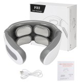 5 Modes 4 Heads Electric Massager Far Infrared Heating Pulse Neck Cervical Spine Massager Analgesic Tool Health Care