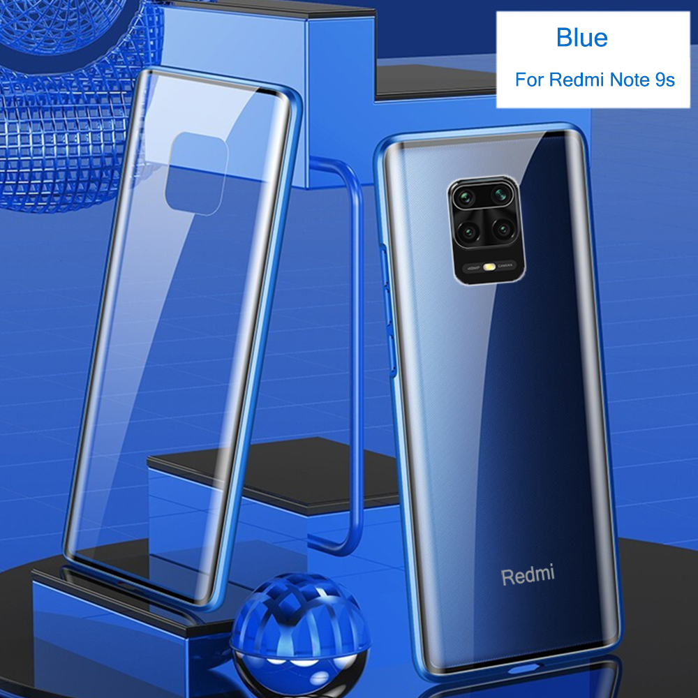 Bakeey Xiaomi Redmi Note 9S 360 Curved Screen Front+Back Double-sided Full Body 9H Tempered Glass Metal Magnetic Adsorption Flip Protective Case For Xiaomi Redmi Note 9 Pro / Xiaomi Redmi Note 9 Pro Max