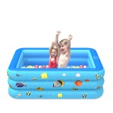 120/130/150/180/210cm Family Inflatable Swimming Pool PVC Kids Adult Water Play Bathtub