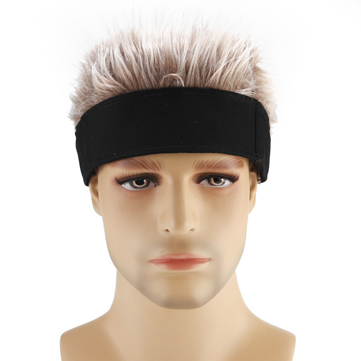 Black White Silver Gray Coffee Wig Retro Street Without Eaves