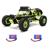 WLtoys 12427 2.4G 1/12 4WD Crawler RC Car With LED Light Two Battery