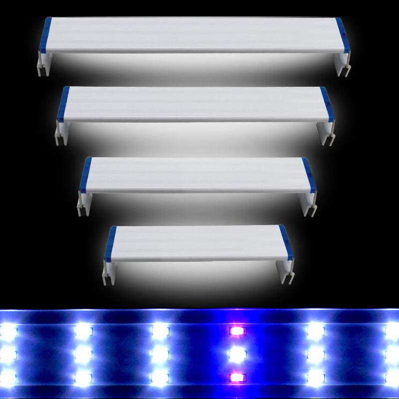 Super Slim LEDs Aquarium Lighting Aquatic Plant Light 20-60CM Extensible Waterproof Clip on Lamp For Fish Tank Blue White Light