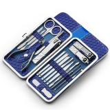 18/21pcs Nail Clipper Set Facial Hand Foot Care Tools Stainless Steel Manicure Kit