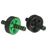 Two-wheel Sponge Sleeve Abdominal Wheel Roller w/ Knee Pad Home Muscle Training Abs Fitness Trainer