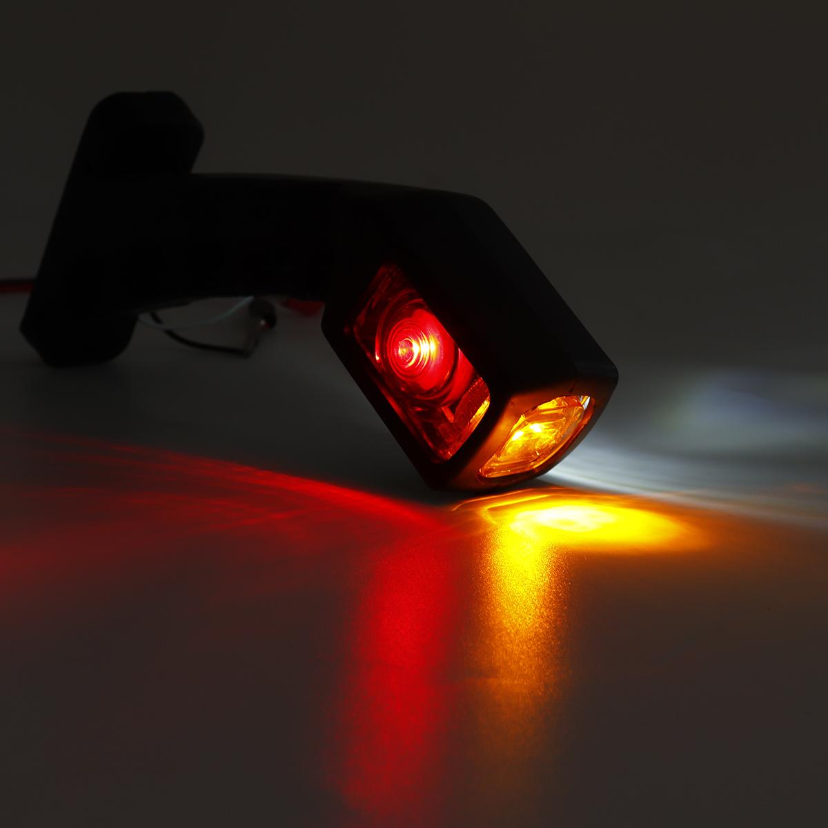 Pair LED Double Side Marker Light Stalk Indicator Lamp For 12V 24V Truck Trailer Lorry Carvan
