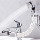 Bathroom Wash Face Basin Water Tap External Shower Head Flexible Hair Washing Faucet Rinser Extension Set Pet Dog Clean Portable