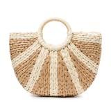 Women Straw Summer Beach Bag Handbag Capacity Travel Tote Purse