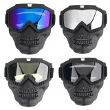 Motorcycle Goggles Detachable Face Mask Anti-dust Snow Rain Protection Cycling Off-Road Eyewear