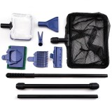 6 in1 Aquarium Cleaning Tools Kits Fish Tank Algae Gravel Cleaner Glass Brushes