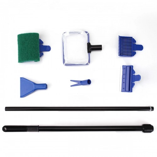 6 in1 Aquarium Fish Tank Cleaning Tool Kit Algae Vacuum Gravel Cleaner Brush Set