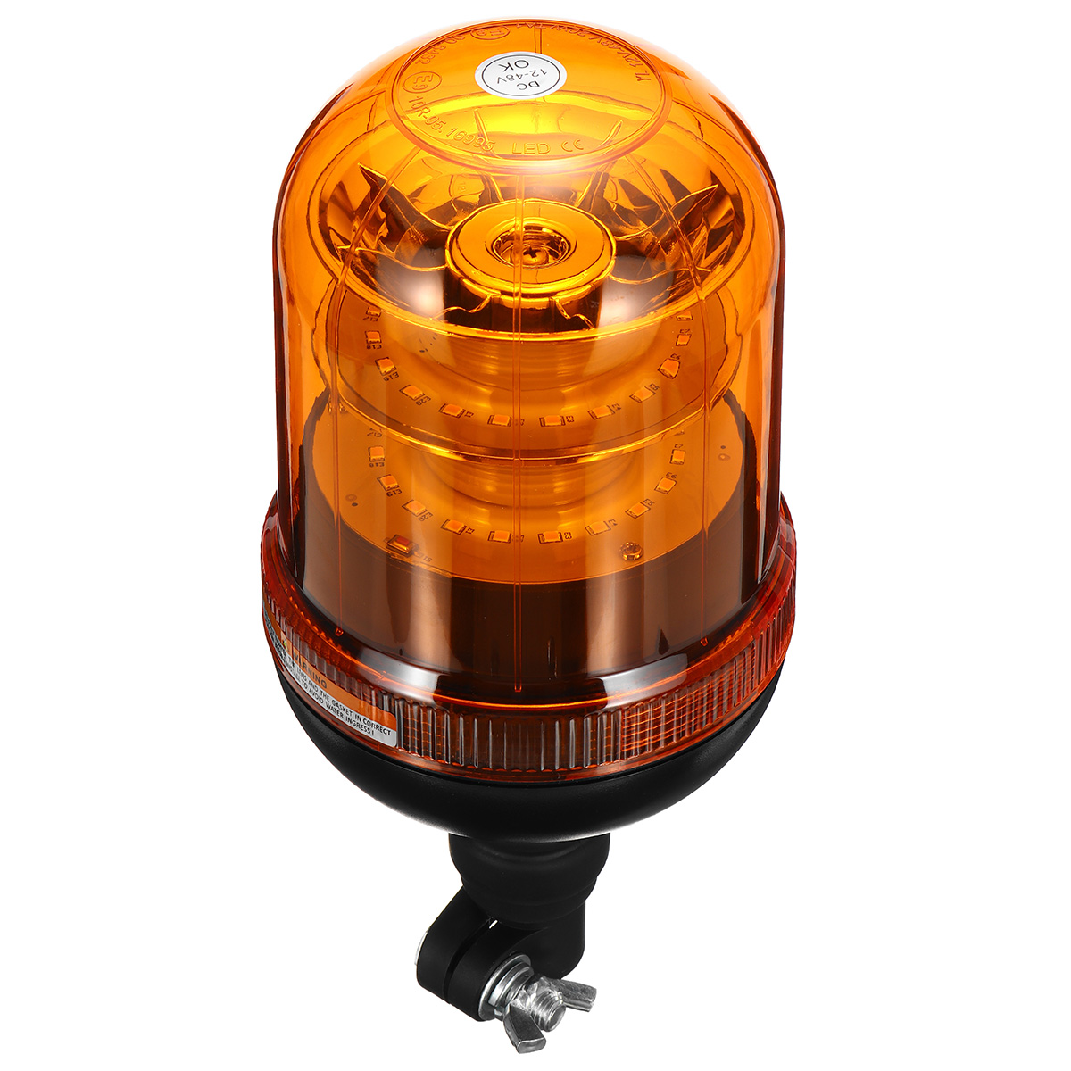 40LED Warning Light 12-24V 4 Flashing Modes Beacon Flexible Din Pole Mount Tractor Warning Light
